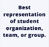 Entries for Representation of student organization, team, or group
