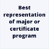 Entries for Best Representation of major/certificate program