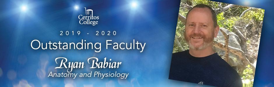 Cerritos College 2019-20 Outstanding Faculty, Ryan Babiar, Geography