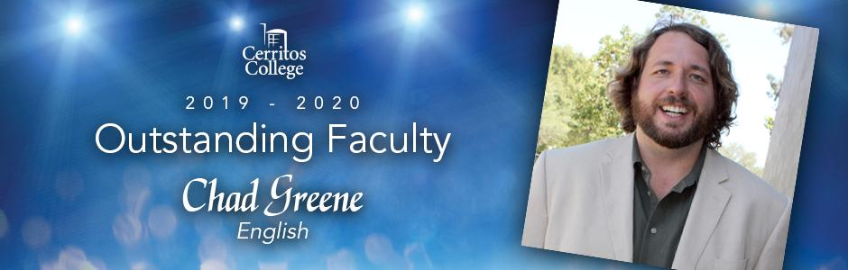 Cerritos College 2019-20 Outstanding Faculty, Chad Greene, English