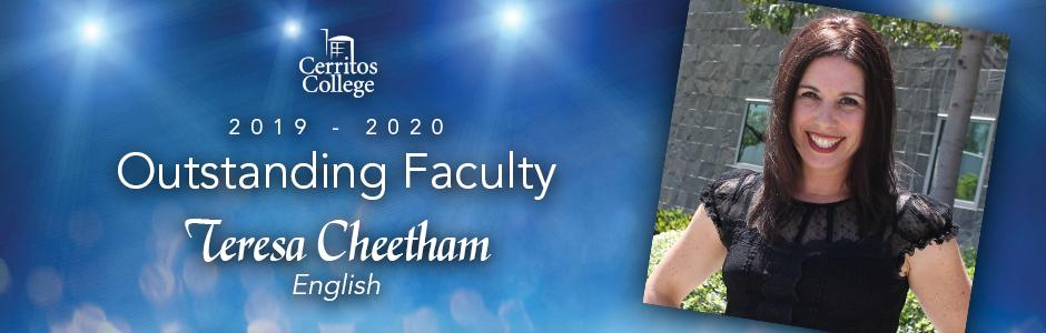 Cerritos College 2019-20 Outstanding Faculty, Teresa Cheetham, english