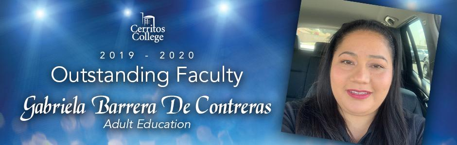 Cerritos College 2019-20 Outstanding Faculty, Gabriela Barrera De Contreras, Adult Education