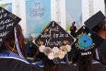 Graduate with a cap says I just want to be a nurse