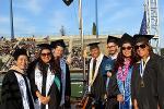 Board members, student leaders, and faculty senate president