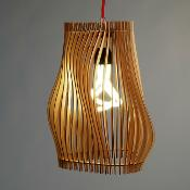 "Contoured laser cut lamp titled ""Monroe"" made in WMT 184 by Jonny S."