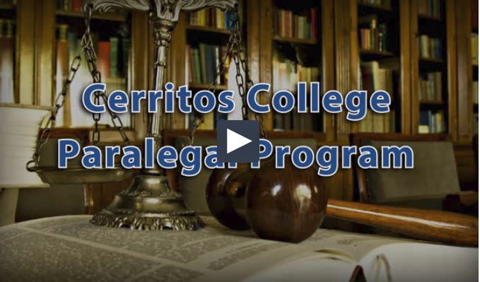Cerritos College Paralegal Department video