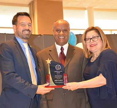 Dr. Fierro, David Tilahun and Norma Rodriguez