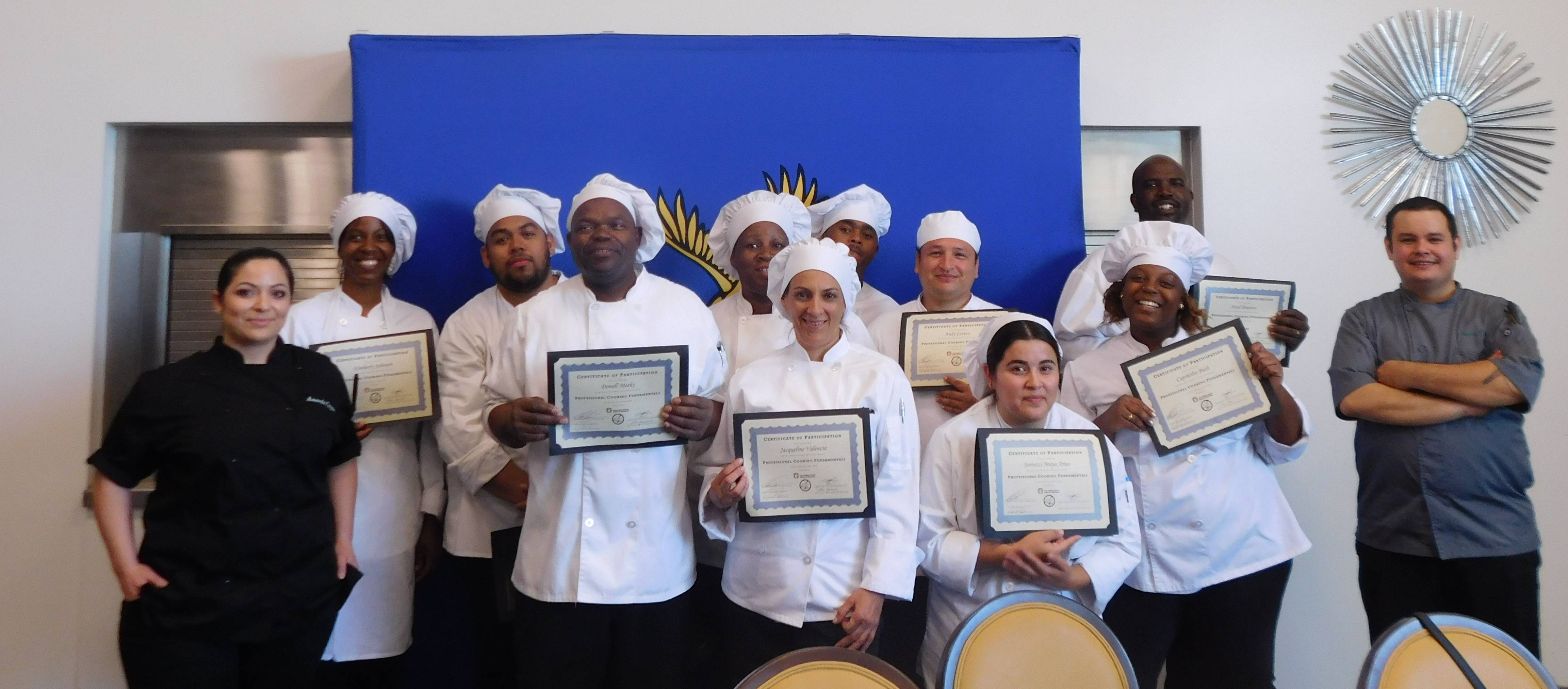 Culinary Arts Lacoe's short term training graduation