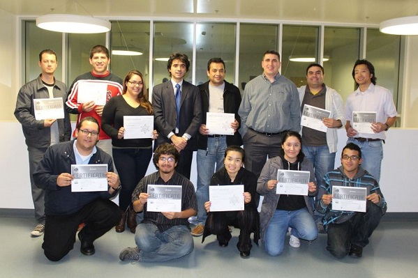 Students with Solidwork certificates
