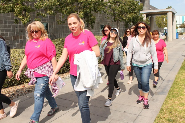 Breast Cancer Awareness Walk participants