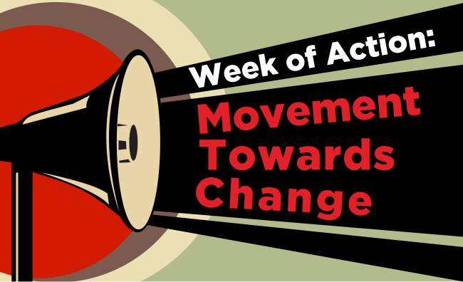 Week of Action movement towards change