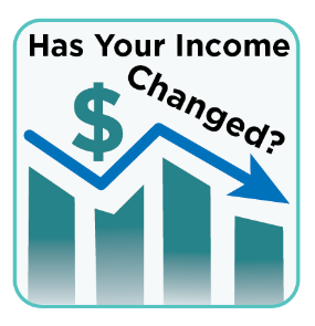 Has your income changed? Graph going down