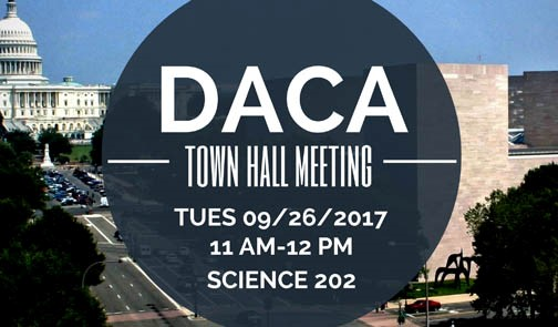 Daca townhall meeting. 9-26-17 11 am Science 202.