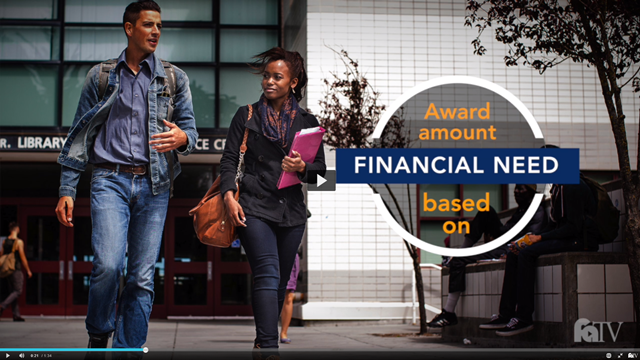 Financial Aid TV Video (captioned)