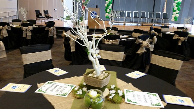 Butterfly Tree and Moss Centerpiece for 2016 Banquet