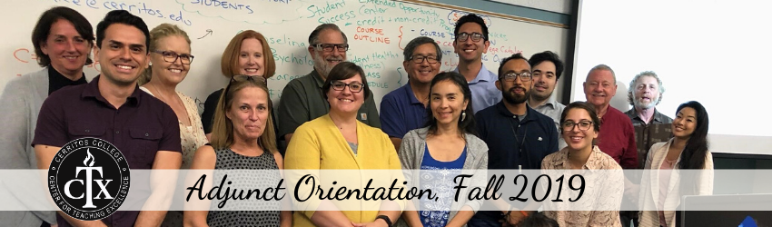 Adjunct Orientation, Fall 2019