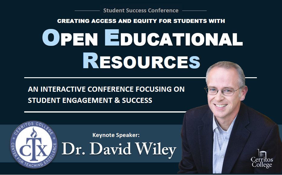 Student Success Conference, Dr. David Wiley