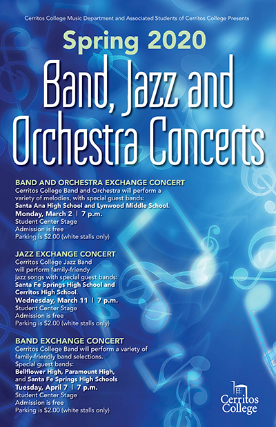 Band, Jazz and Orchestra concerts