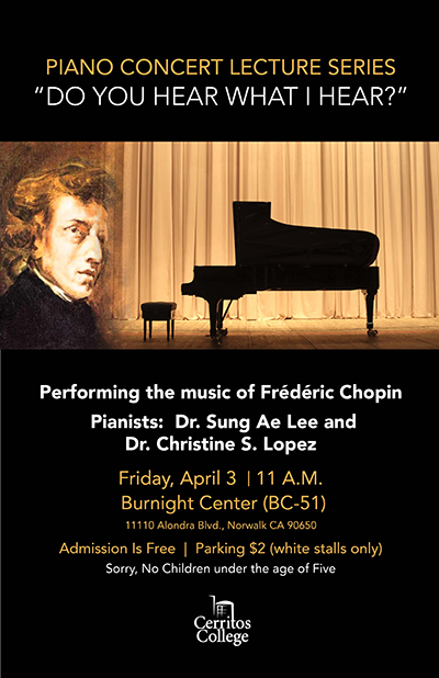 Piano Concert Lecture Series - Do You Hear What I hear?
