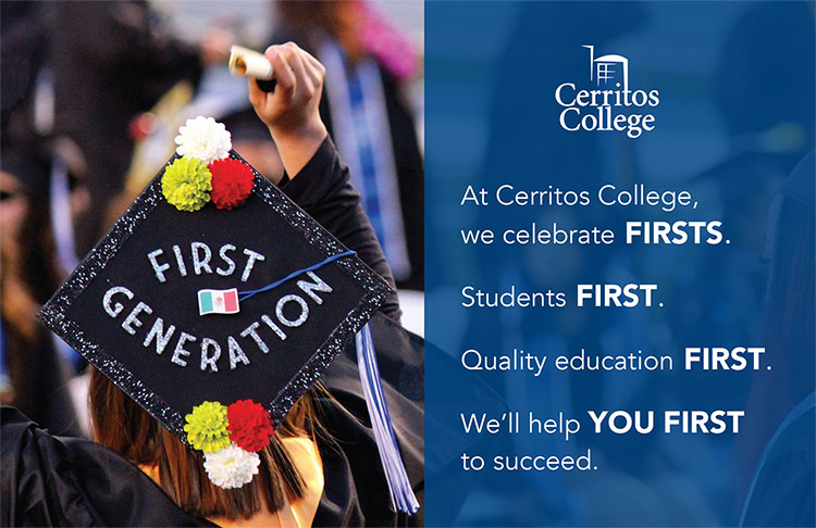 "Cerritos College ""Firsts"" ad"