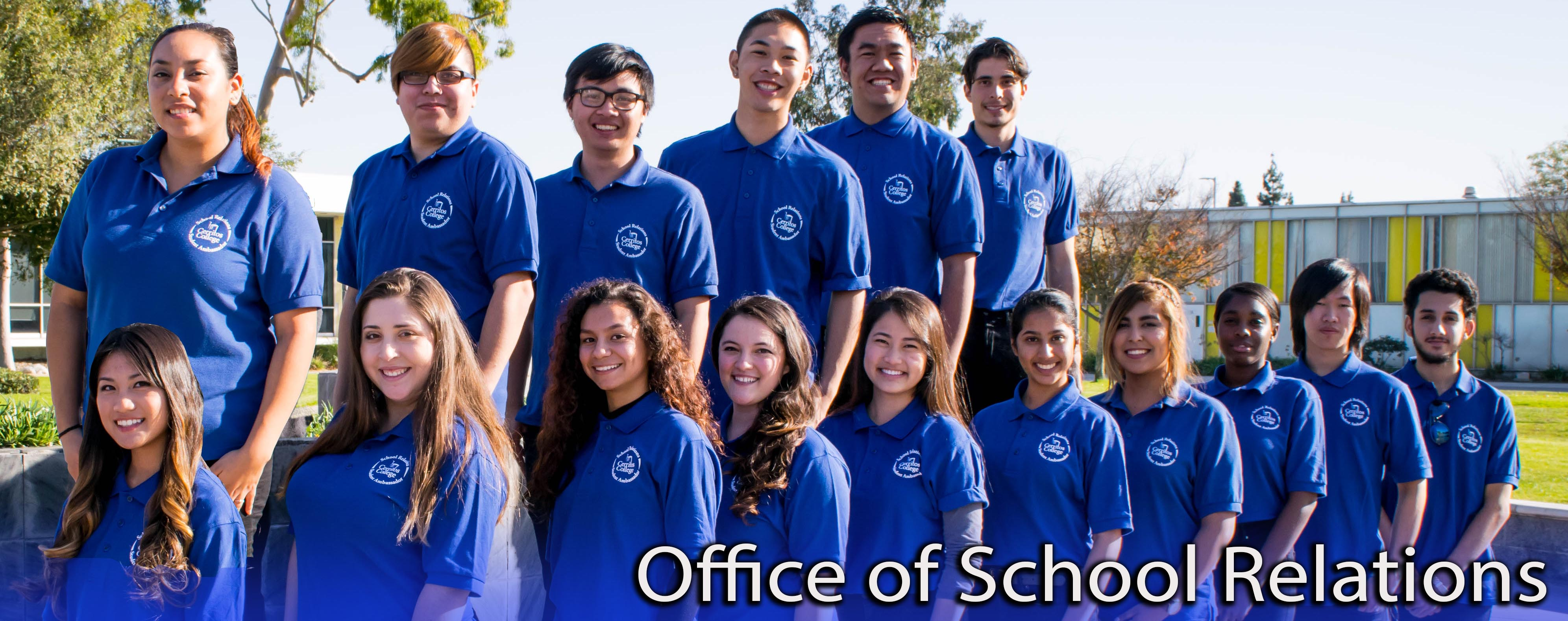 Shirley Arceo and peer counselors - Office of School Relations
