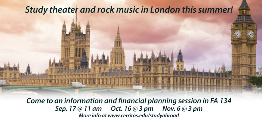 Study theater and rock music in London this summer!