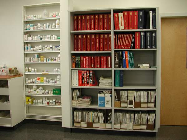 Library of reference books and current journals