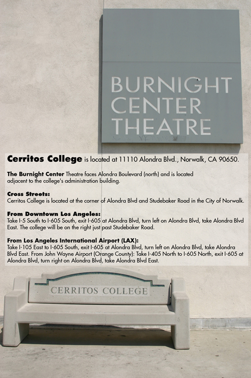 the Burnight Center Theatre sign on the Burnight Building