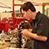 Student working on donated Subaru engine