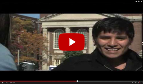 YouTube video: An Undocumented Students Journey to Harvard