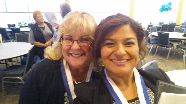 Lucy Romero and Janice Cole selfie picture.