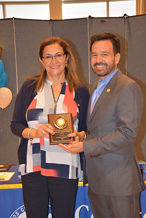 Theresa Velazquez-Ortega and Dr. Fierro.