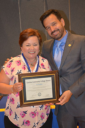 Toni Grijalva and Dr. Fierro.