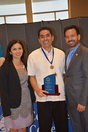 Yvette Tafoya, Robert Aguayo and Dr. Fierro.