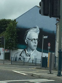 Mural of Irish poet W.B. Yeats