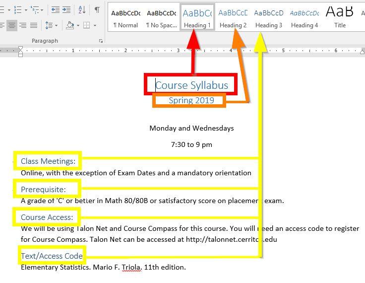 Cerritos College - Creating Accessible PDF Files